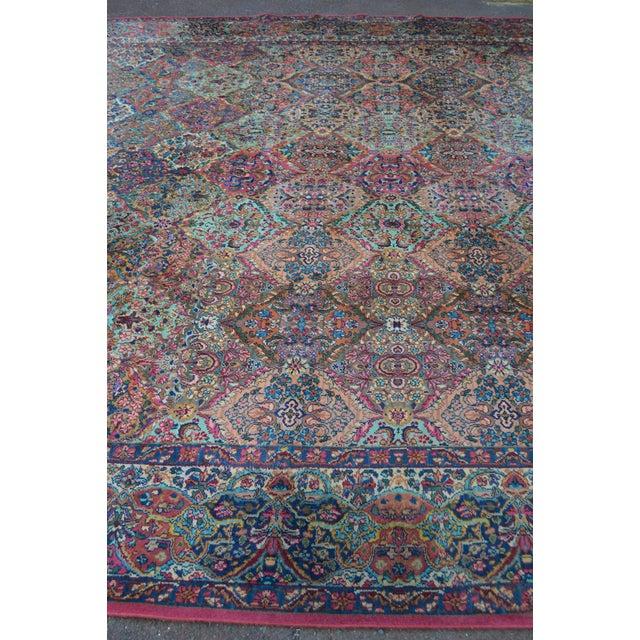 Karastan #717 Multi Panel Kirman Large Room Size Rug For Sale - Image 11 of 13