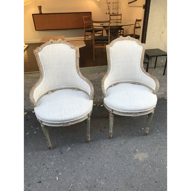 1860 French Petite Fauteuils - a Pair For Sale In New Orleans - Image 6 of 6