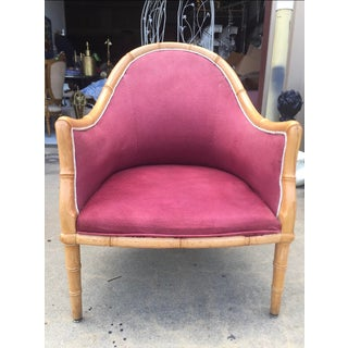 Pair of Wooden Bamboo Accent Chairs Preview