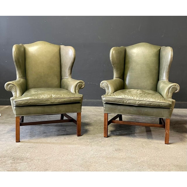 Ralph Lauren Georgian Style Wing Back Chairs For Sale In New York - Image 6 of 6