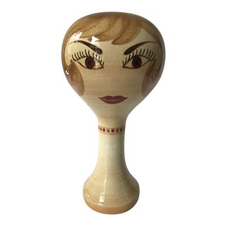 Vintage Stangl Pottery Ceramic Mannequin Head Hat Wig Stand