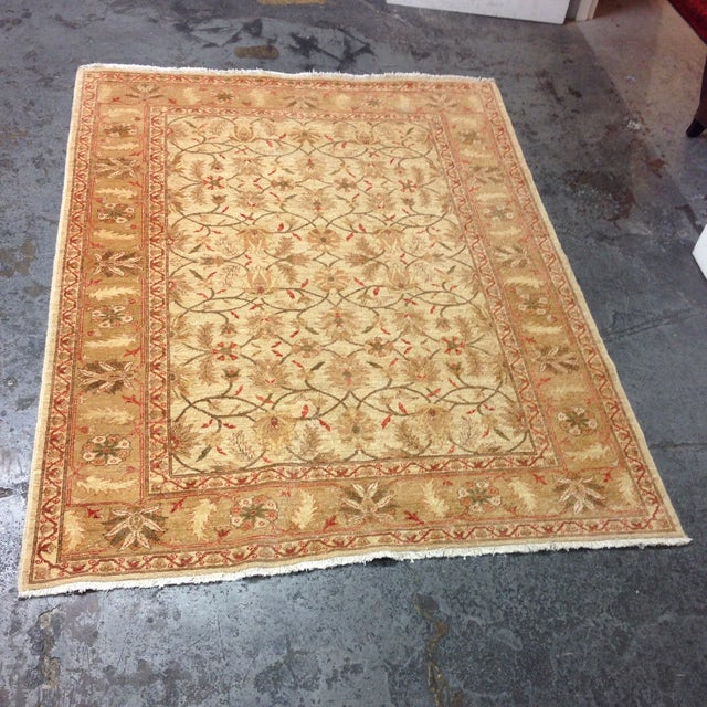 Red & Tan Floral Pattern Area Rug - 8' X 6' - Image 7 of 8