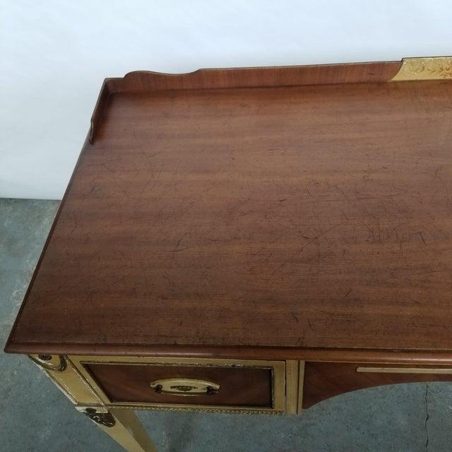 Antique Flint & Horner French Deco Writing Desk/Vanity For Sale - Image 12 of 13