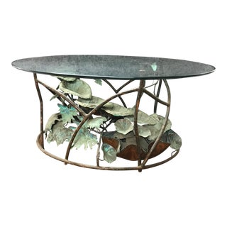 Copper Fountain Coffee Table For Sale