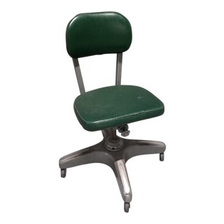 1960s Vintage Cole Steel Equipment Company Industrial Swivel Desk Chair For Sale