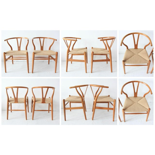 Vintage Hans Wegner Wishbone Chairs - Set of 4 - Image 8 of 10