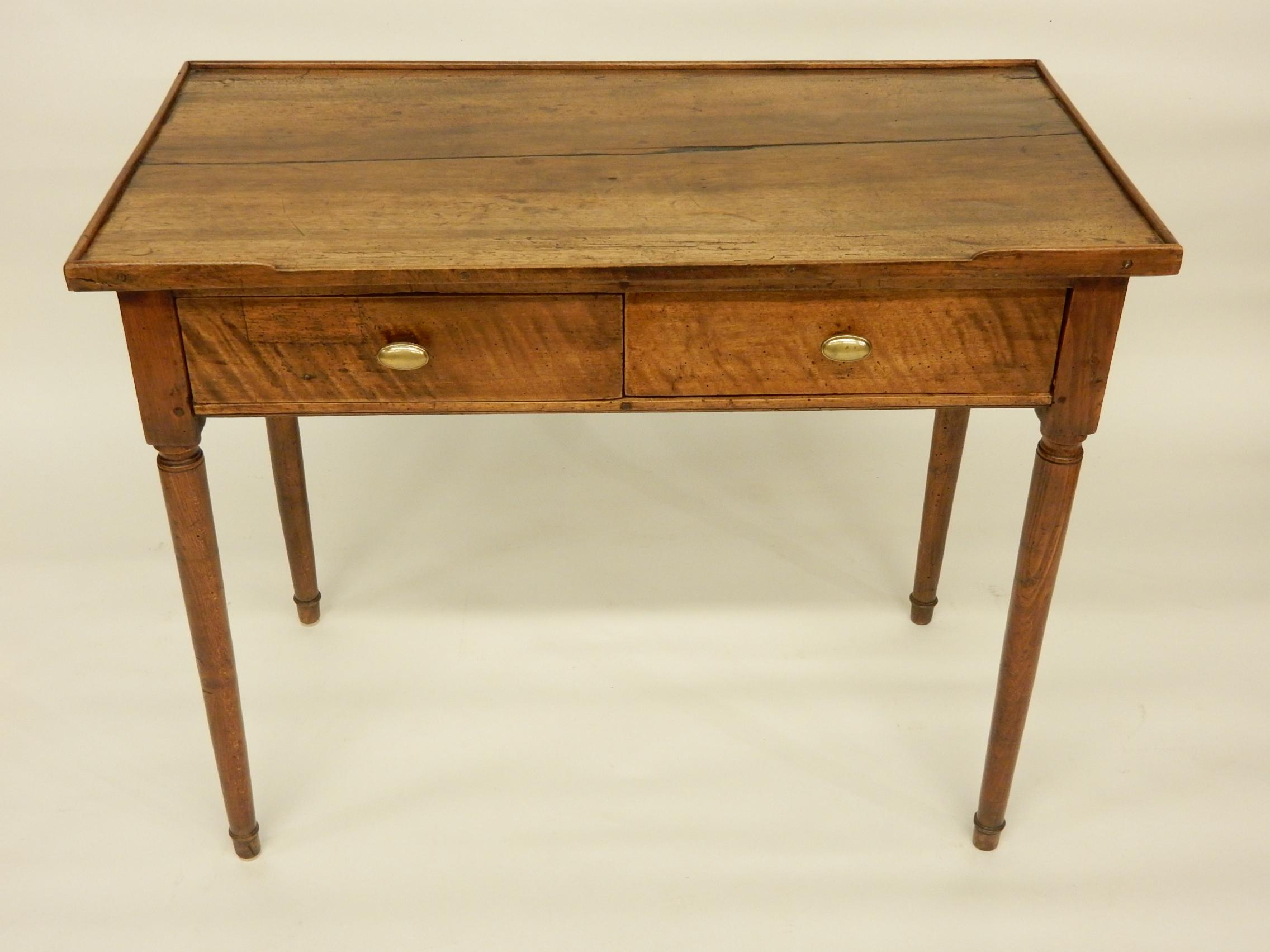 18th C. French Provincial Walnut Side Table