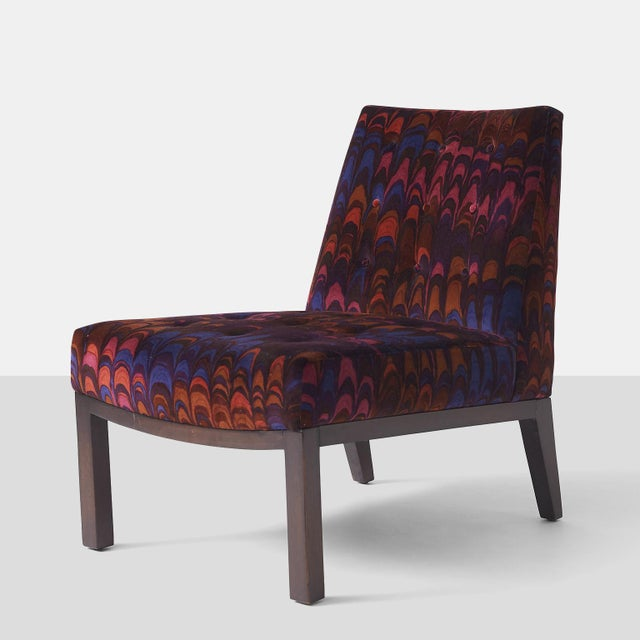 """Mid-Century Modern Edward wormley """"Sophia"""" slipper chairs - a pair For Sale - Image 3 of 7"""