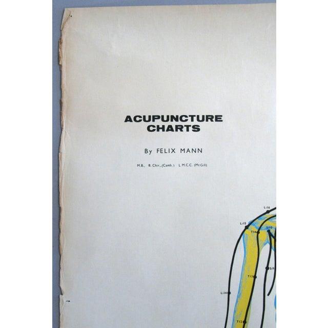 1960s Vintage Acupuncture Serigraphs on Linen by Felix Mann - Set of 3 For Sale - Image 5 of 12