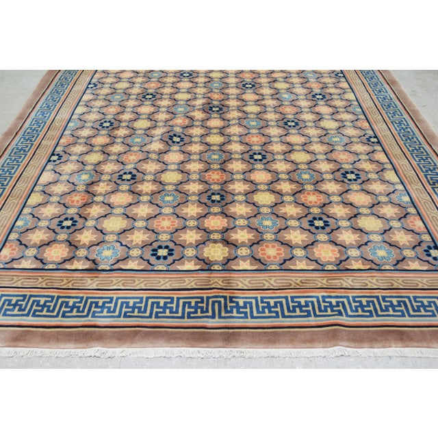 """Antique Chinese Rug,8'x10'1"""" For Sale - Image 4 of 7"""