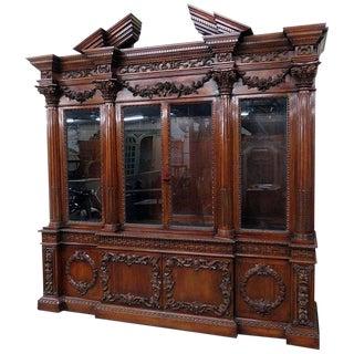 Monumental Georgian Style Breakfront For Sale