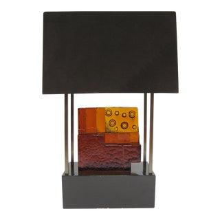 Custom art glass sculpture lamp from Arthur Elrod interior For Sale