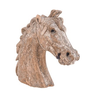 Carved Carousel Horse Head For Sale