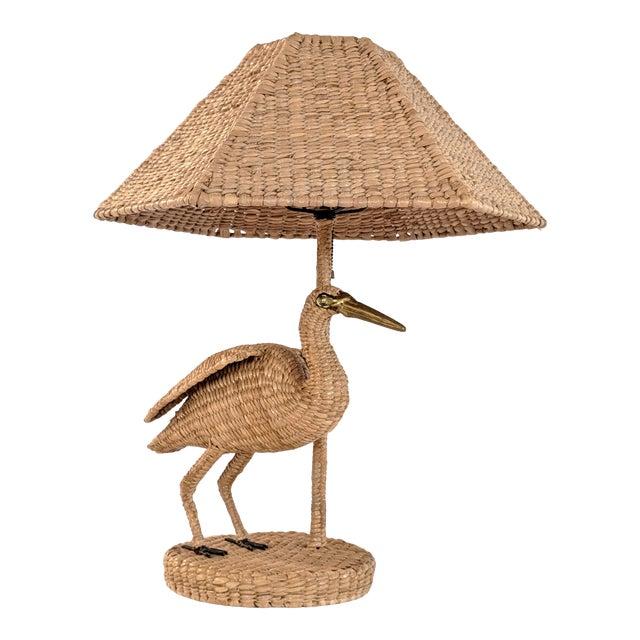 1970s Mario Lopez Torres Crane Table Lamp For Sale