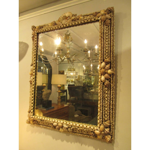 Spectacular Vintage Shell Mirror mirror in excellent condition.