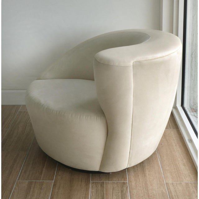 Mid 20th Century Nautilus Chair & Ottoman by Vladimir Kagan for Directional-Set of 2 For Sale - Image 5 of 13