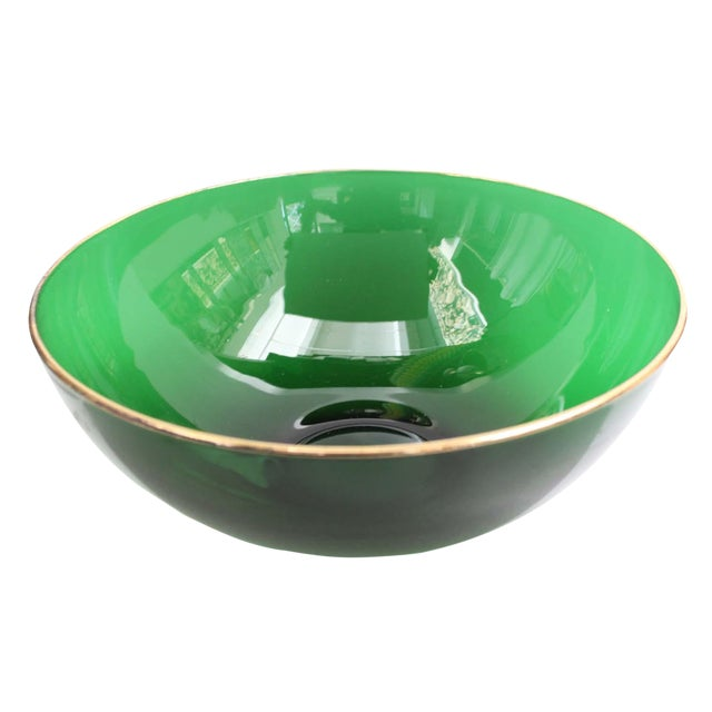 Round Emerald Green Bowl - Image 1 of 4