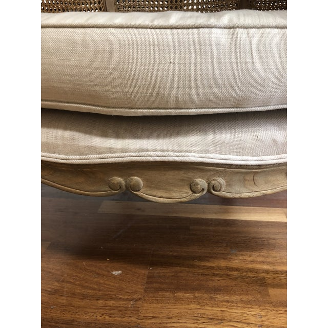 Porters Style Balloon Caned Chair For Sale - Image 9 of 13