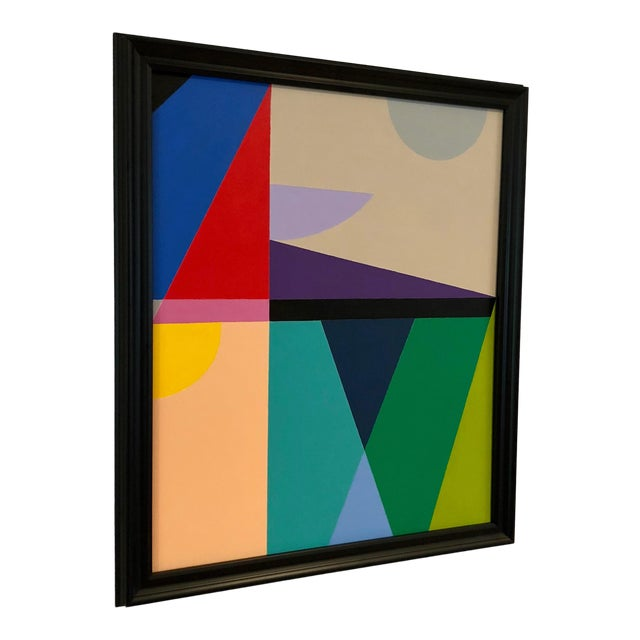 """Artist: Tony Curry Modern Abstract Painting on canvas Signed & Titled. Painting on Canvas. Painting Size: 24 x 20""""..."""
