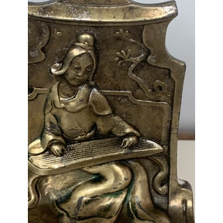 1920s Antique Chinoiserie Bronze Madrigale Bookends by Pompaian-a Pair Preview