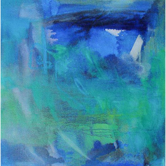 """""""Reef"""" Small Abstract Oil Painting by Trixie Pitts For Sale In Nashville - Image 6 of 6"""