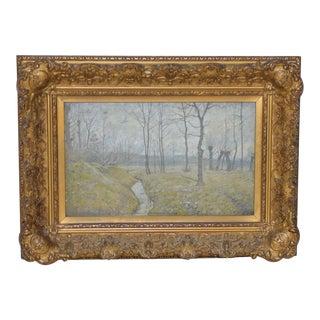 Fritz Kohler German Landscape Oil Painting c.1920