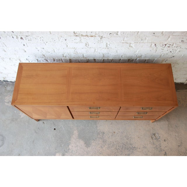 Gold Mid-Century Modern Mahogany Parquetry Credenza by Red Lion For Sale - Image 8 of 11