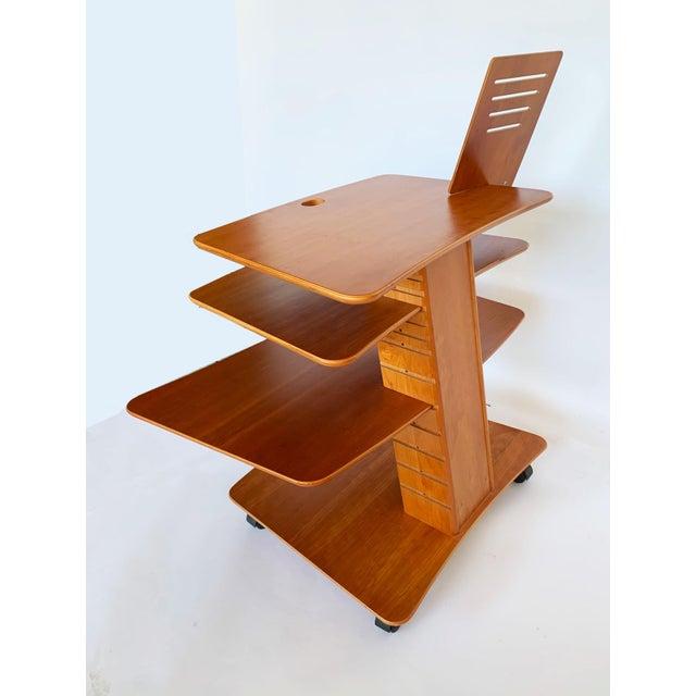 1970s Aksel Kjesgaard of Denmark Teak Mid-Century Adjustable Desk on Casters For Sale - Image 5 of 12