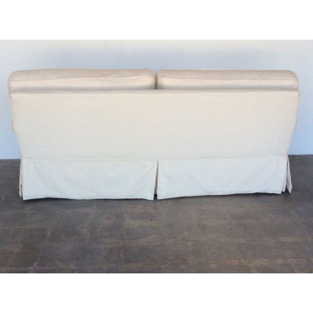 Slipcovered Roll Arm Sofa in Belgian Linen - Image 5 of 8