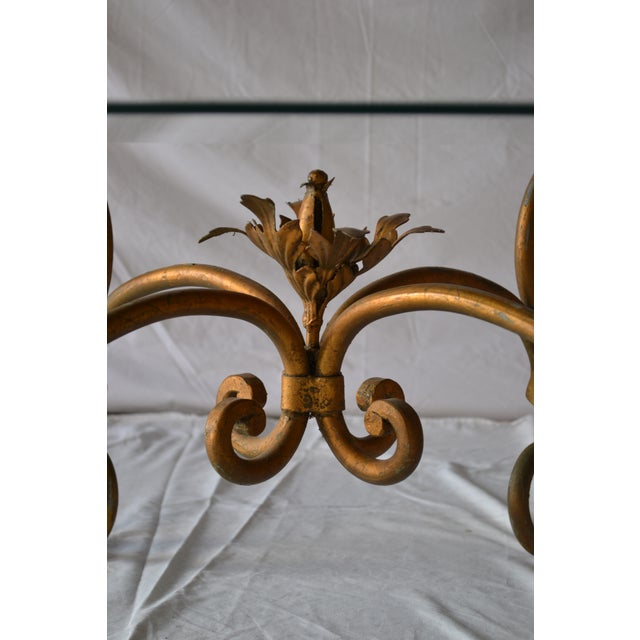 Vintage Italian Gilded Base Cocktail Table - Image 6 of 6