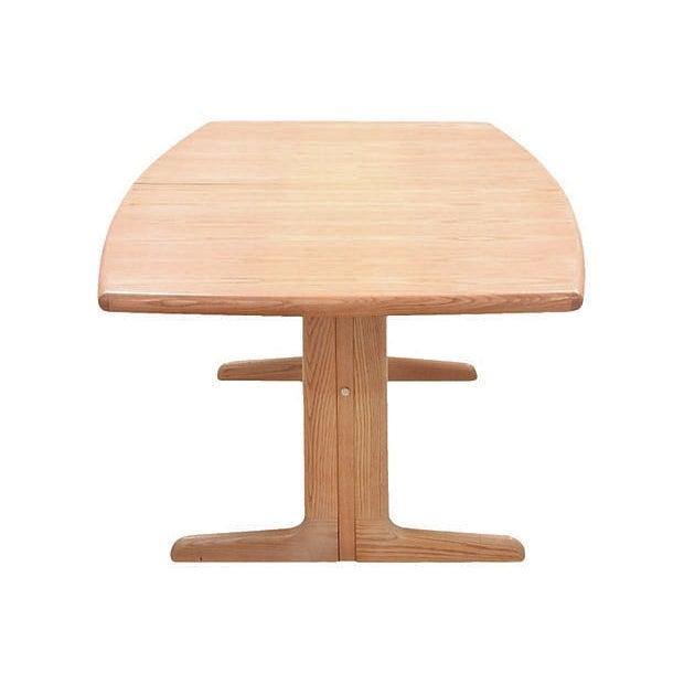 Mid-Century Modern Trestle Table - Image 3 of 7