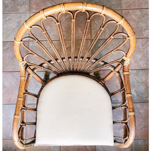 Franco Albini 1990s Vintage Rattan Chairs- A Pair For Sale - Image 4 of 5