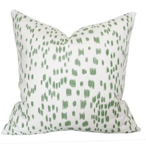 """Les Touches Green Pillow Cover 18""""sq - Image 3 of 3"""
