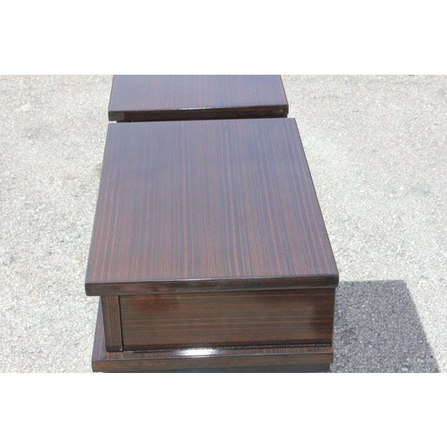 French Art Deco Macassar Ebony Nightstands - A Pair - Image 4 of 10