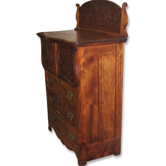 Maple Carved Flamed Finish Maple Dresser For Sale - Image 7 of 10