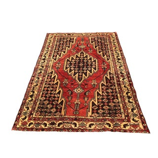 1950s Vintage Persian Rug - 4′4″ × 6′7″ For Sale