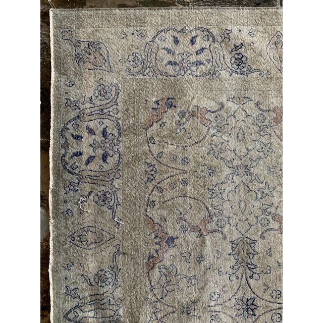 "1920s Vintage Faded Persian Rug - 9' 0.5"" X 6' 1"" For Sale - Image 5 of 7"
