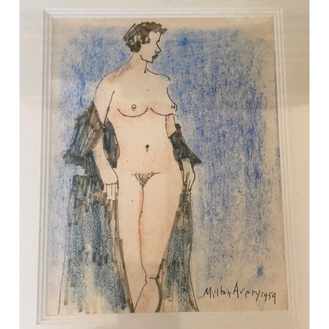 Belle Epoque Milton Avery Nude Drawing For Sale - Image 3 of 13