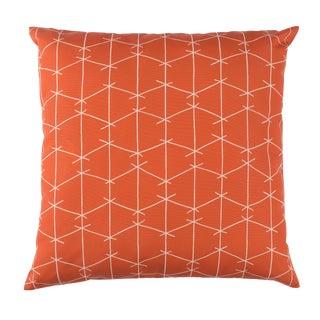 Contemporary Ferrick Mason Criss Cross Outdoor Custom Orange Pillow For Sale