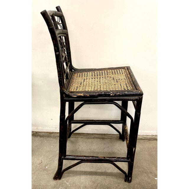Brighton Bamboo Counter Chairs - a Pair For Sale - Image 9 of 11