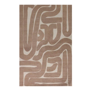 Noodle 5' x 8' Rug - White/Nude For Sale