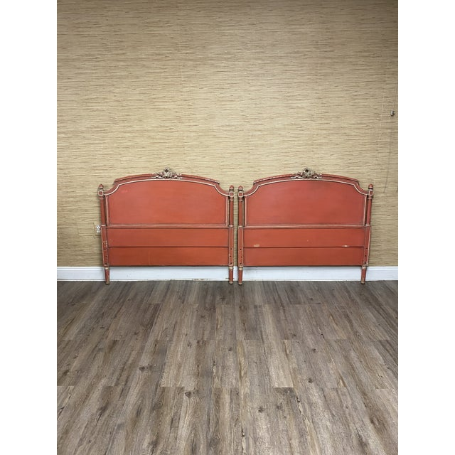 Wood Antique French Louis XVI Style Twin Bed For Sale - Image 7 of 11