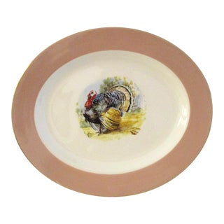 Mid Century Tom Turkey Serving Platter For Sale