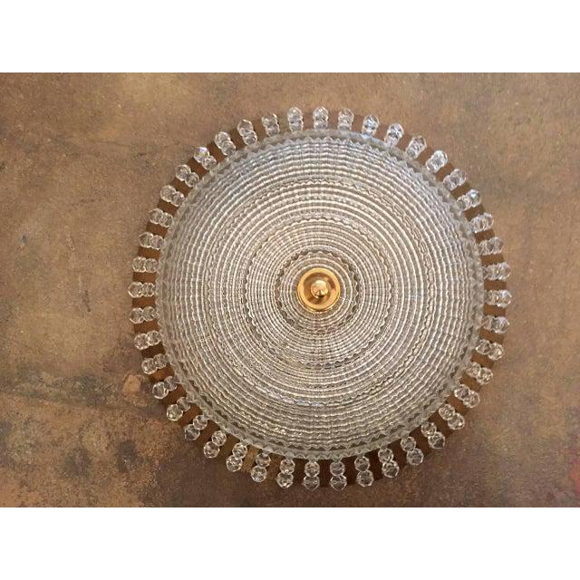 1950s Stejnar Austrian Crystal Flush Light Pendant For Sale - Image 9 of 11