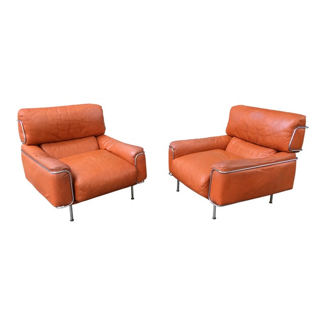 Saporiti Lounge Chairs - a Pair For Sale