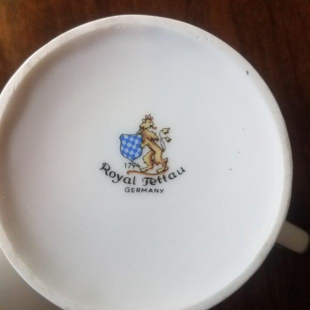 Boho Chic Vintage Royal Tettau Porcelain Espresso Cups & Saucers -Set of 10 For Sale - Image 3 of 5