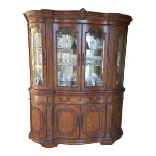 Drexel Heritage Talavera Tuscan China Cabinet For Sale