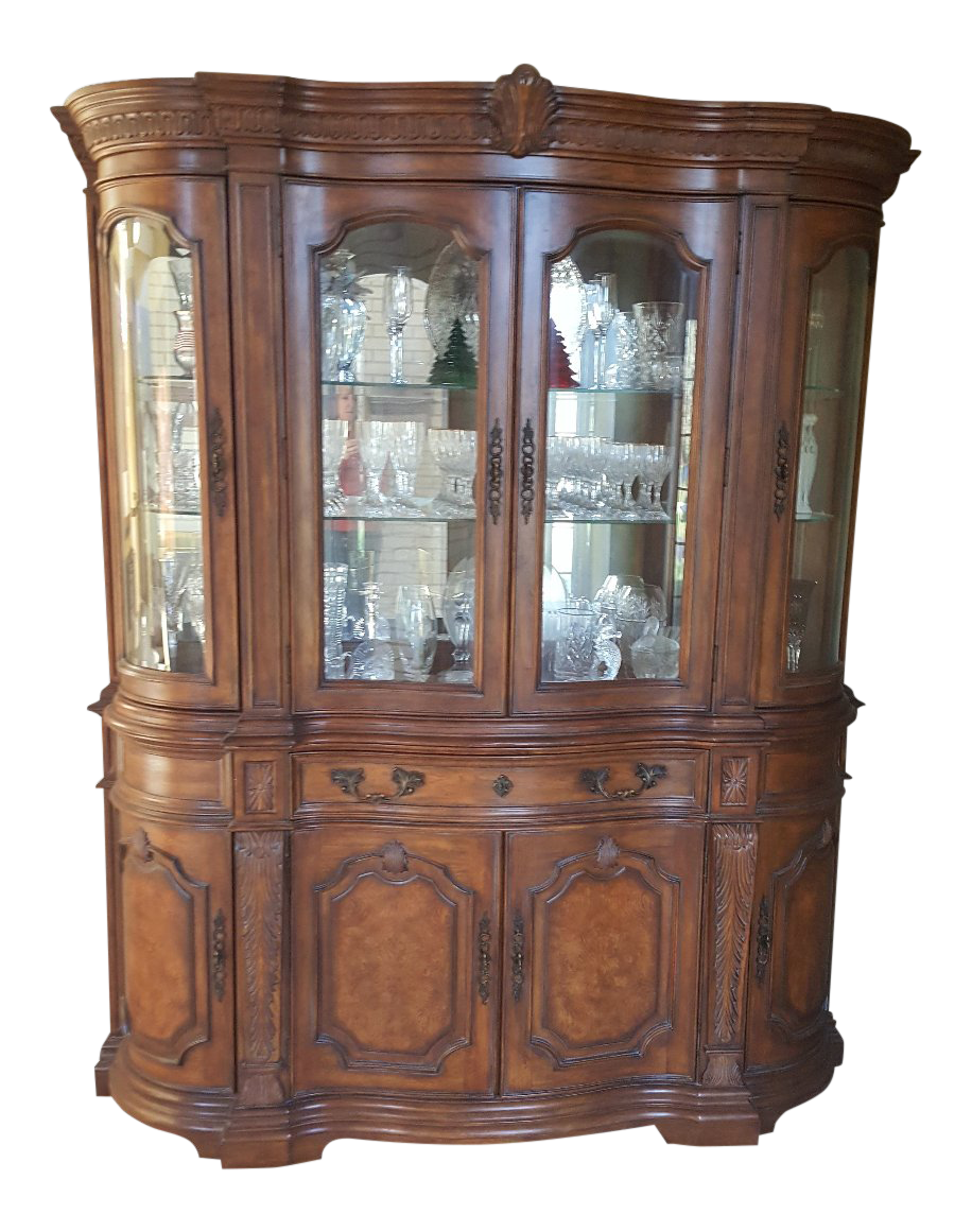 Genial Drexel Heritage Talavera Tuscan China Cabinet For Sale