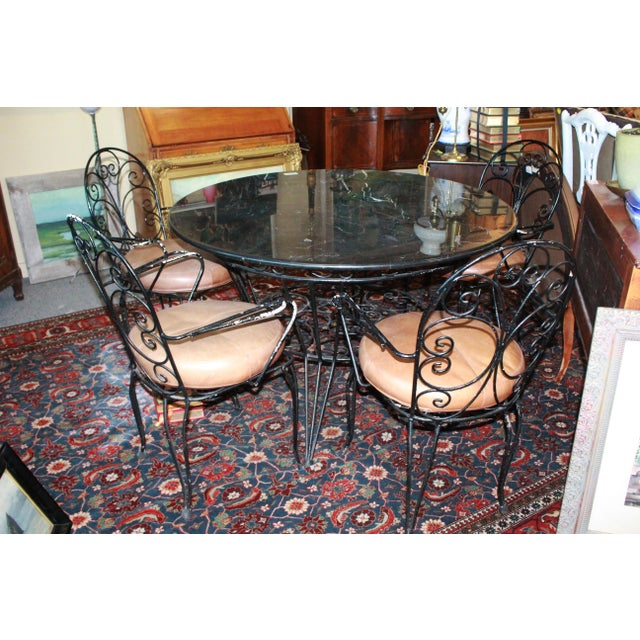 Brown 20th Century Art Nouveau Dining Set - 5 Pieces For Sale - Image 8 of 8
