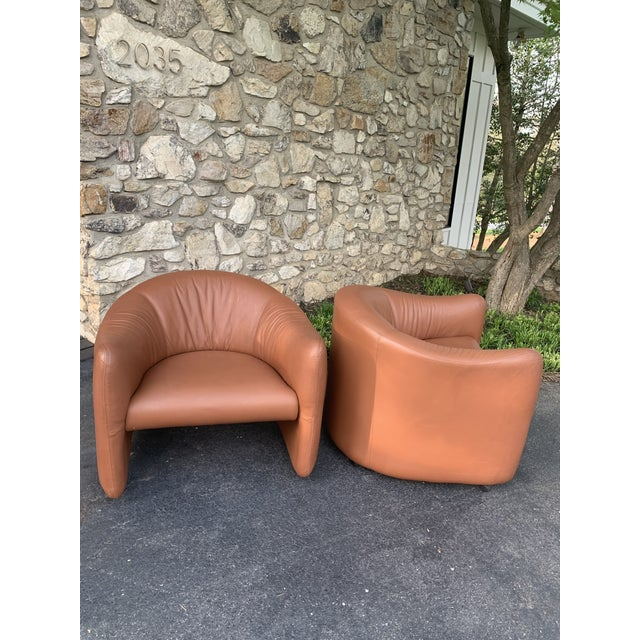 Metropolitan furniture known for cutting edge designs in 60, 70 and 1980s is great example of art. The leather is called...